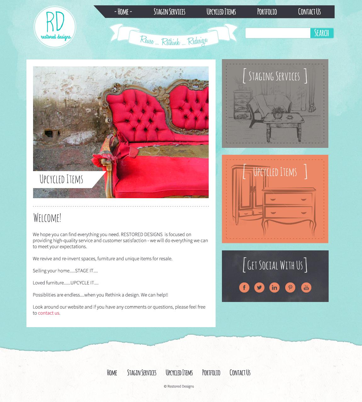Restored Designs WordPress Mockup