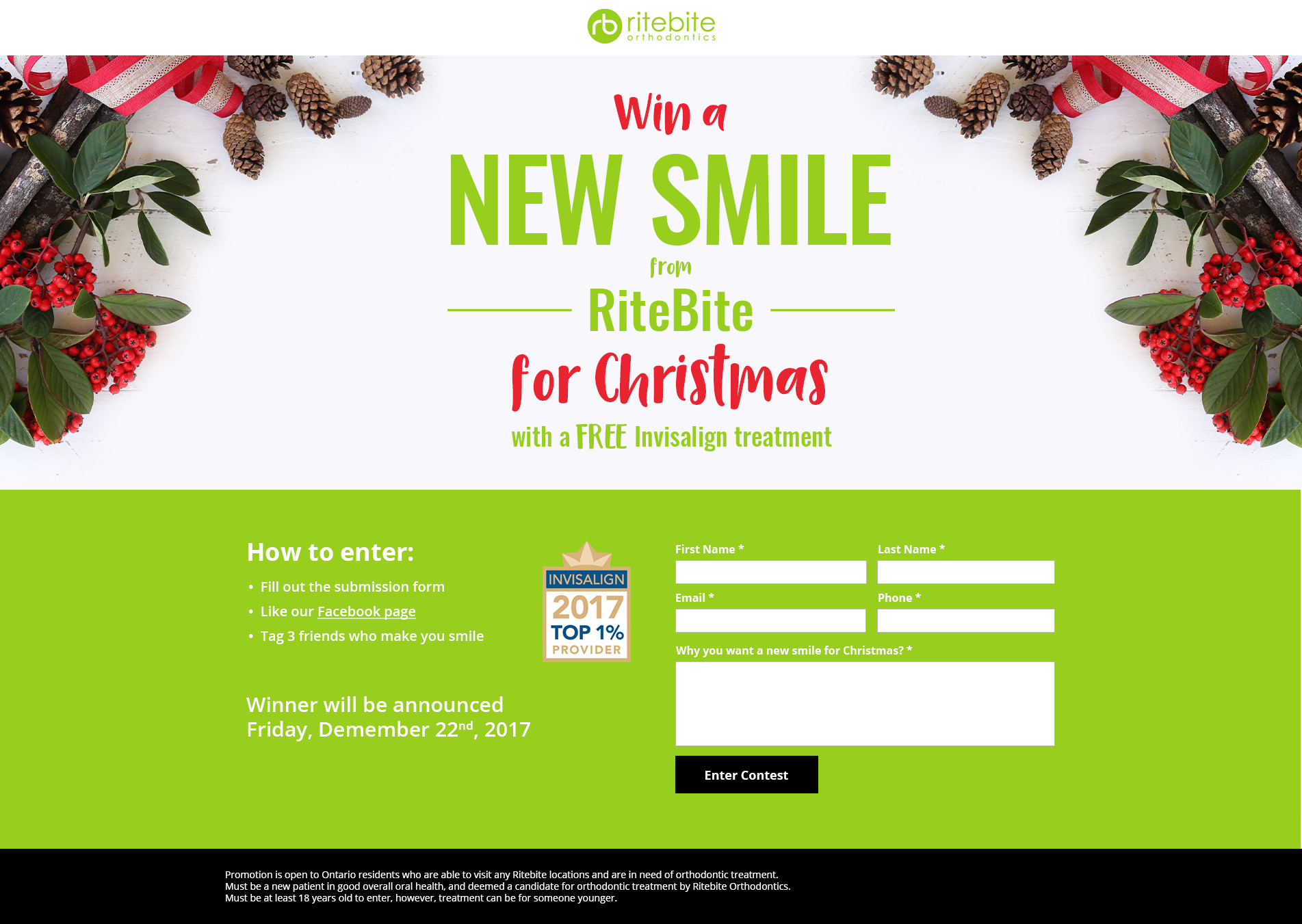 RiteBite Christmas Contest