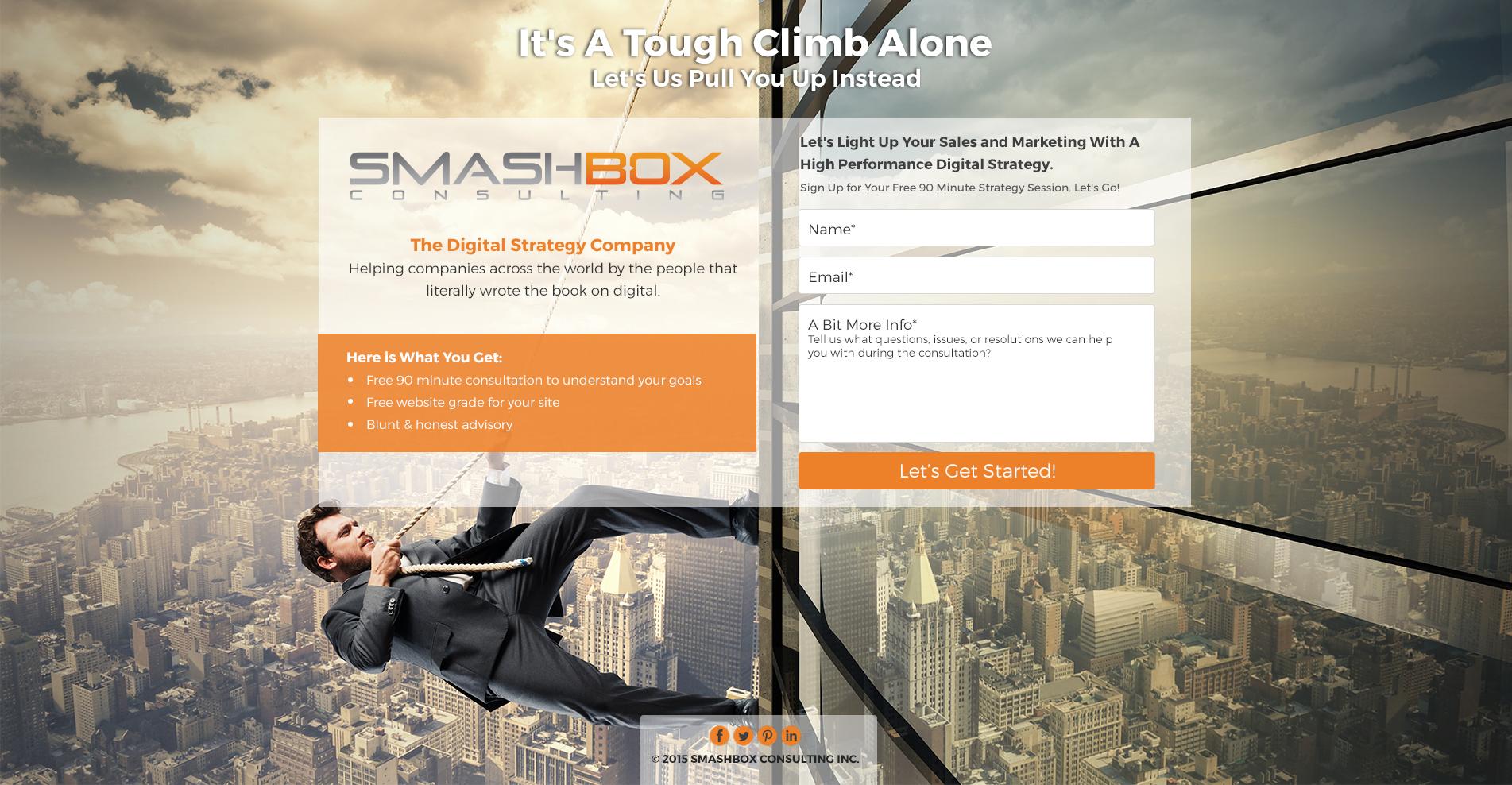 Smashbox Landing Page